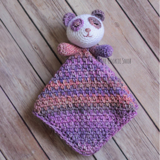 Snuggly Panda Lovey Free Crochet Pattern