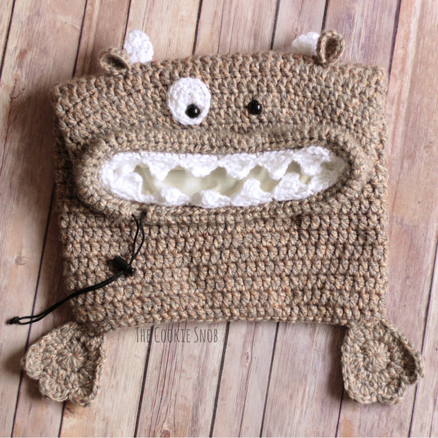 Monster Toy Bag Free Crochet Pattern