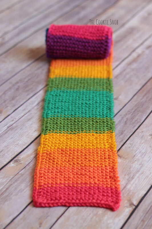 Simplest Striped Scarf Free Knit Pattern