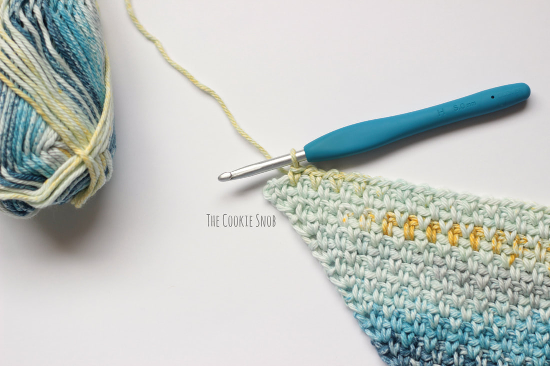 C2C Moss Stitch Tutorial
