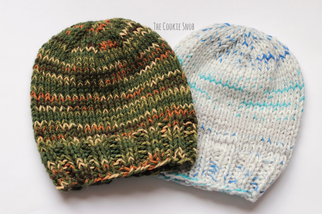 Stash Buster Beanie Free Knit Pattern