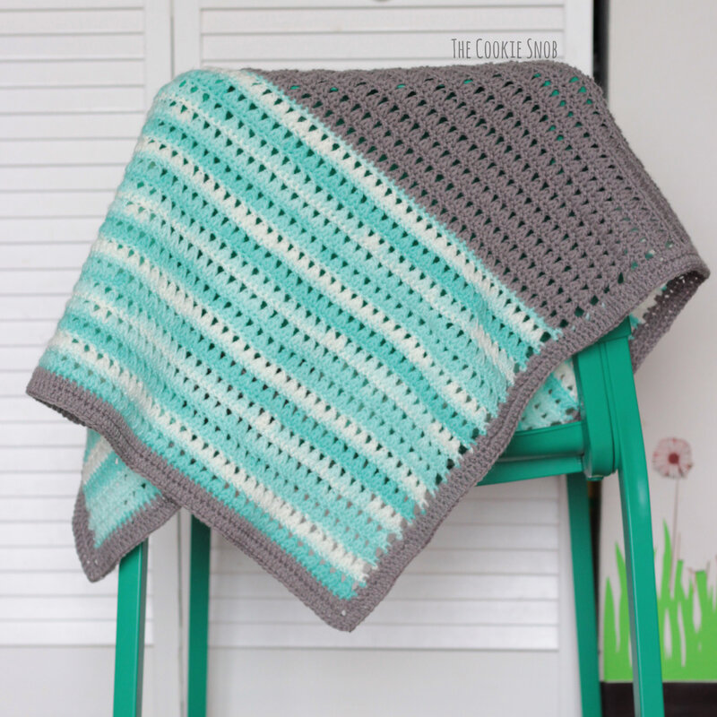 Triads Stitch Blanket Free Crochet Pattern