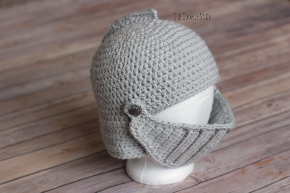Crocheted Knight's Helmet