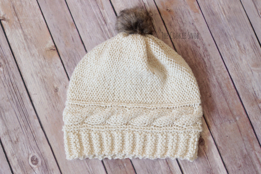 Cabled Crown Beanie Free Knit Pattern