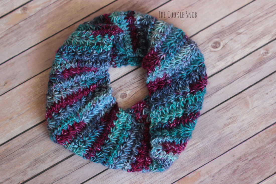 Star Stitch Cowl Free Crochet Pattern