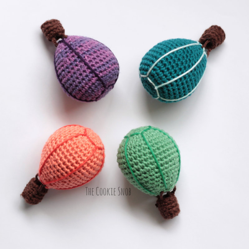 Hot Air Balloon Mobile Free Crochet Pattern