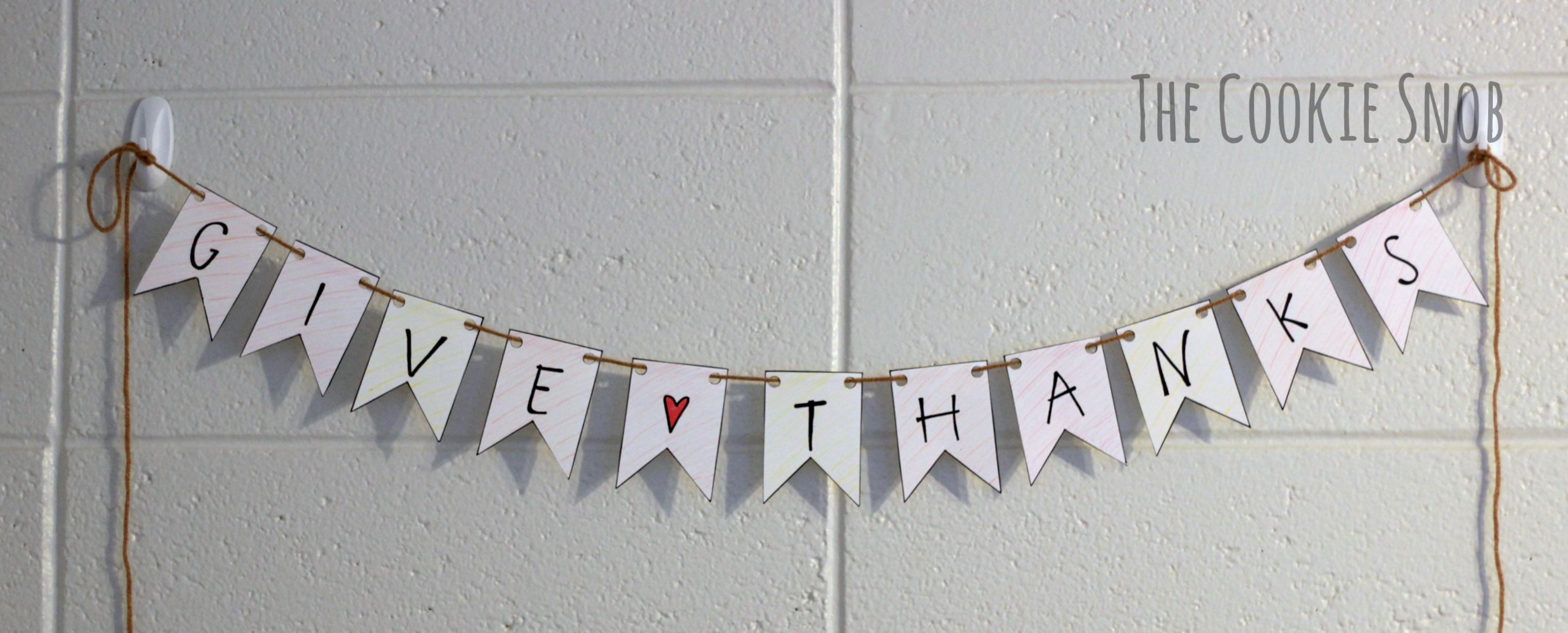 Give Thanks Banner (Free Printable)
